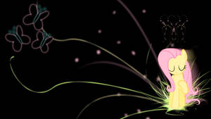 Fluttershy 'Neon Nature Abstract' Wallpaper