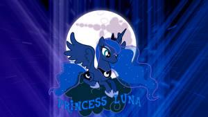 Princess Luna on a Cloud 'Abstract' Wallpaper