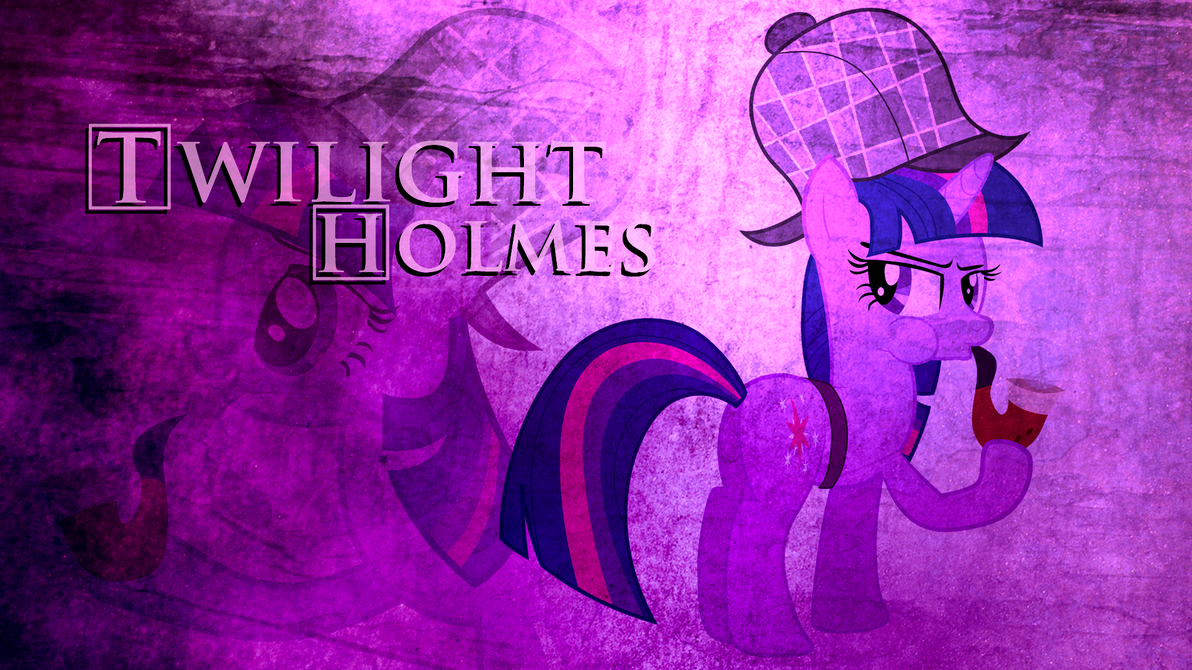 Twilight 'Holmes' Sparkle Wallpaper by BlueDragonHans