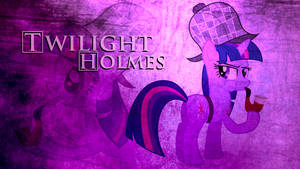 Twilight 'Holmes' Sparkle Wallpaper by BlueDragonHans