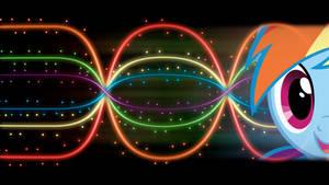 Rainbow Dash 'Lights and Neons' Wallpaper
