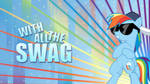 'With All The SWAG' Rainbow Dash Wallpaper
