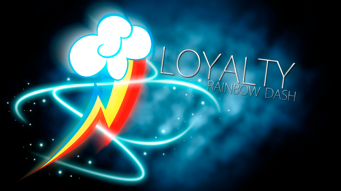 Rainbow Dash Loyalty Cutie Mark Wallpaper by BlueDragonHans