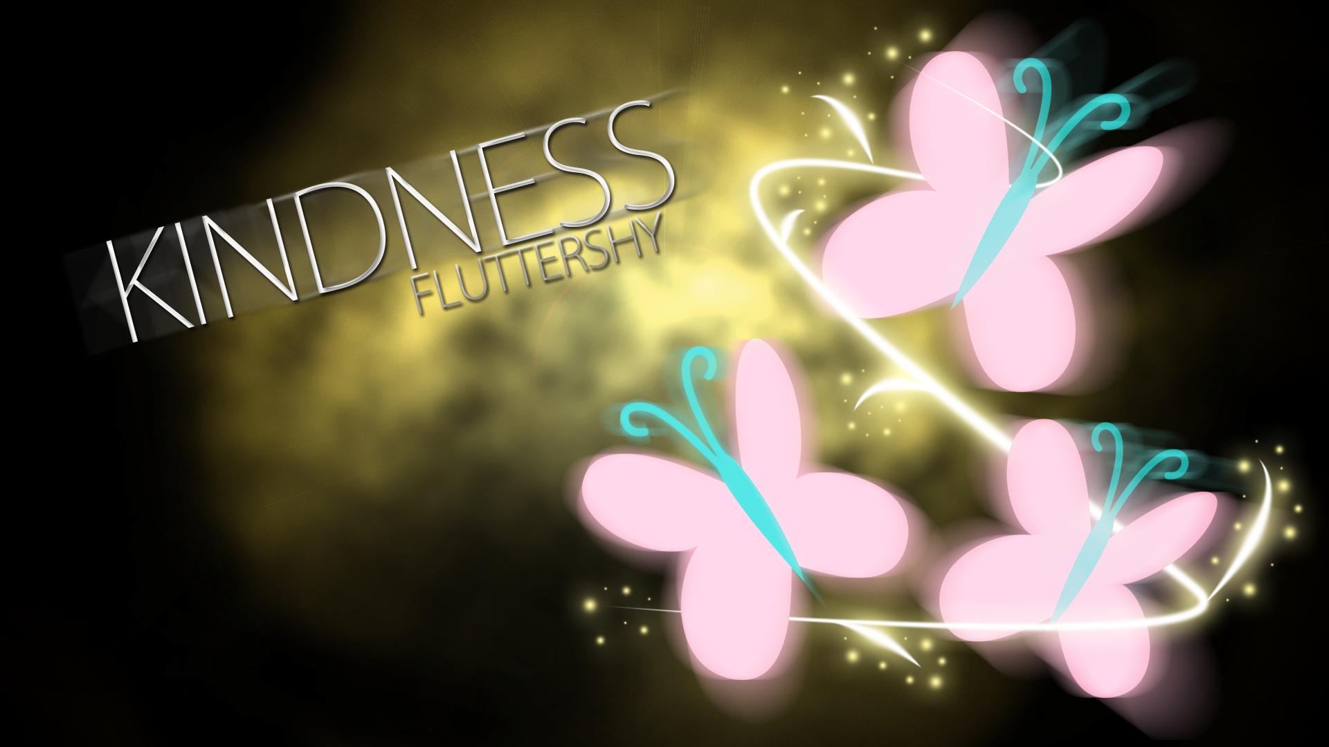 Fluttershy Kindness Cutie Mark Wallpaper by BlueDragonHans