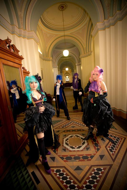 Vocaloid Sandplay Group by pinkyluxun