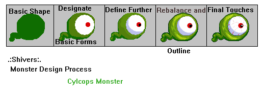 Monster Pixel Art Tutorial by faeryshivers