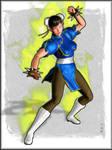 -Street Fighter ChunLi Fanart- by ken1171