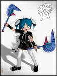 -Chibi Goth and Axe-