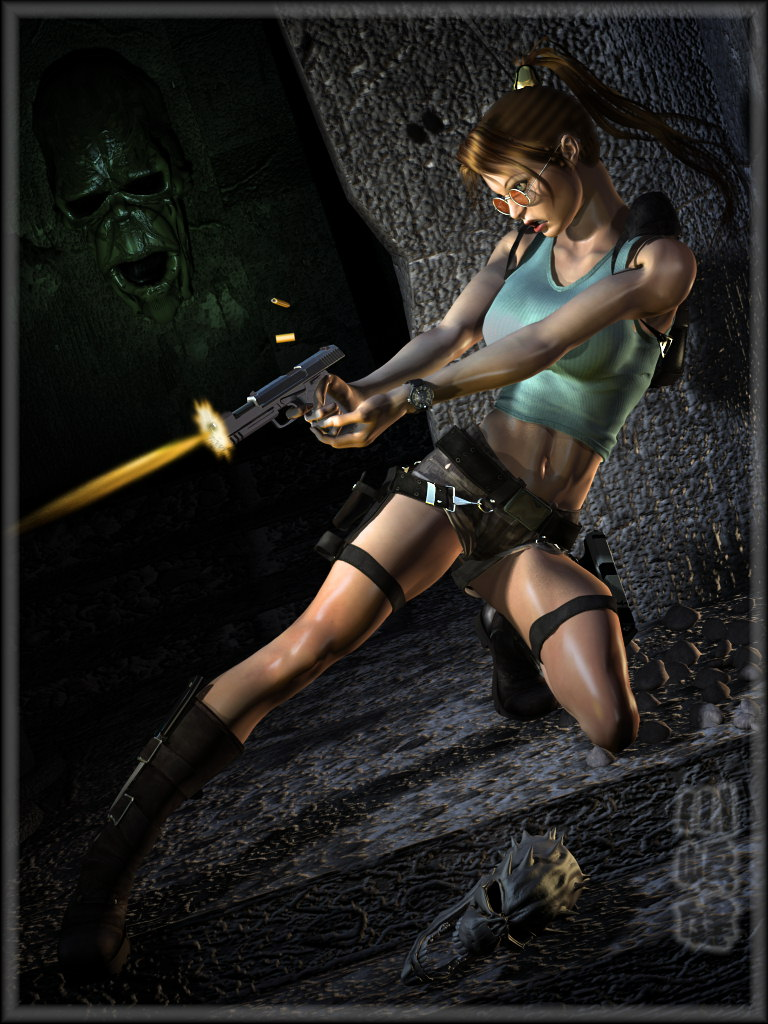 -Raiding Lara Fanart- by ken1171