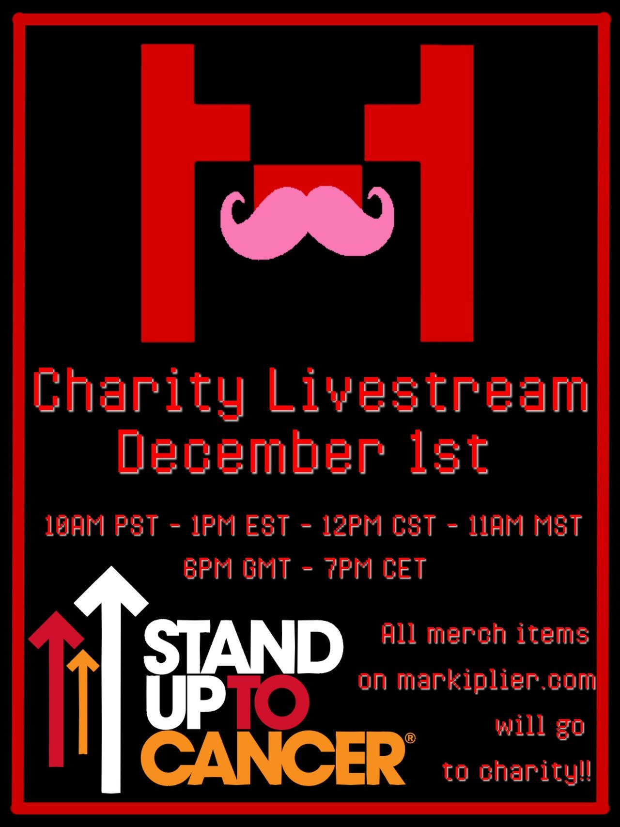 1Pm Pst To Cst markiplier charity livestream december 1stkirauchiha666
