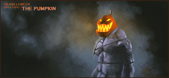 The Pumpkin_Drawlloween by Tomahawk-Monkey