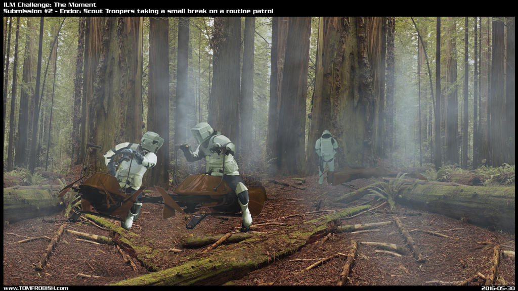 Scout Troopers taking a break on a routine route by Tomahawk-Monkey