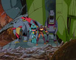 It's Hot Rod! And Kup and the Dinobots!