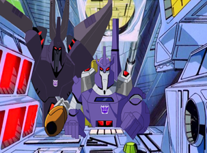 Galvatron attacks the Autobots by du365