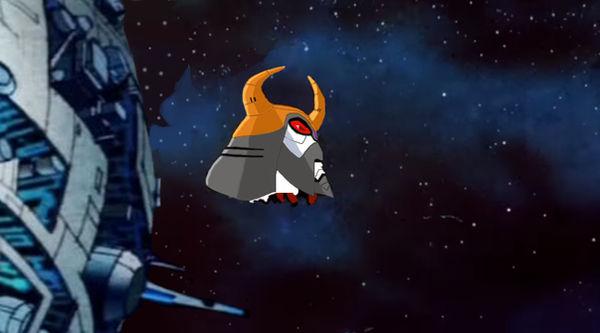 Unicron's head orbits Cybertron by du365