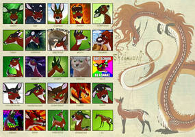 The Many Faces of Shadowwolf by Shadowwolf