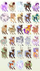 Deerb Recolors Batch #1 by Shadowwolf
