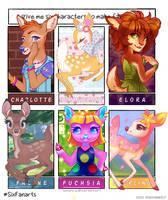 Six Fanarts - Deer ONLY