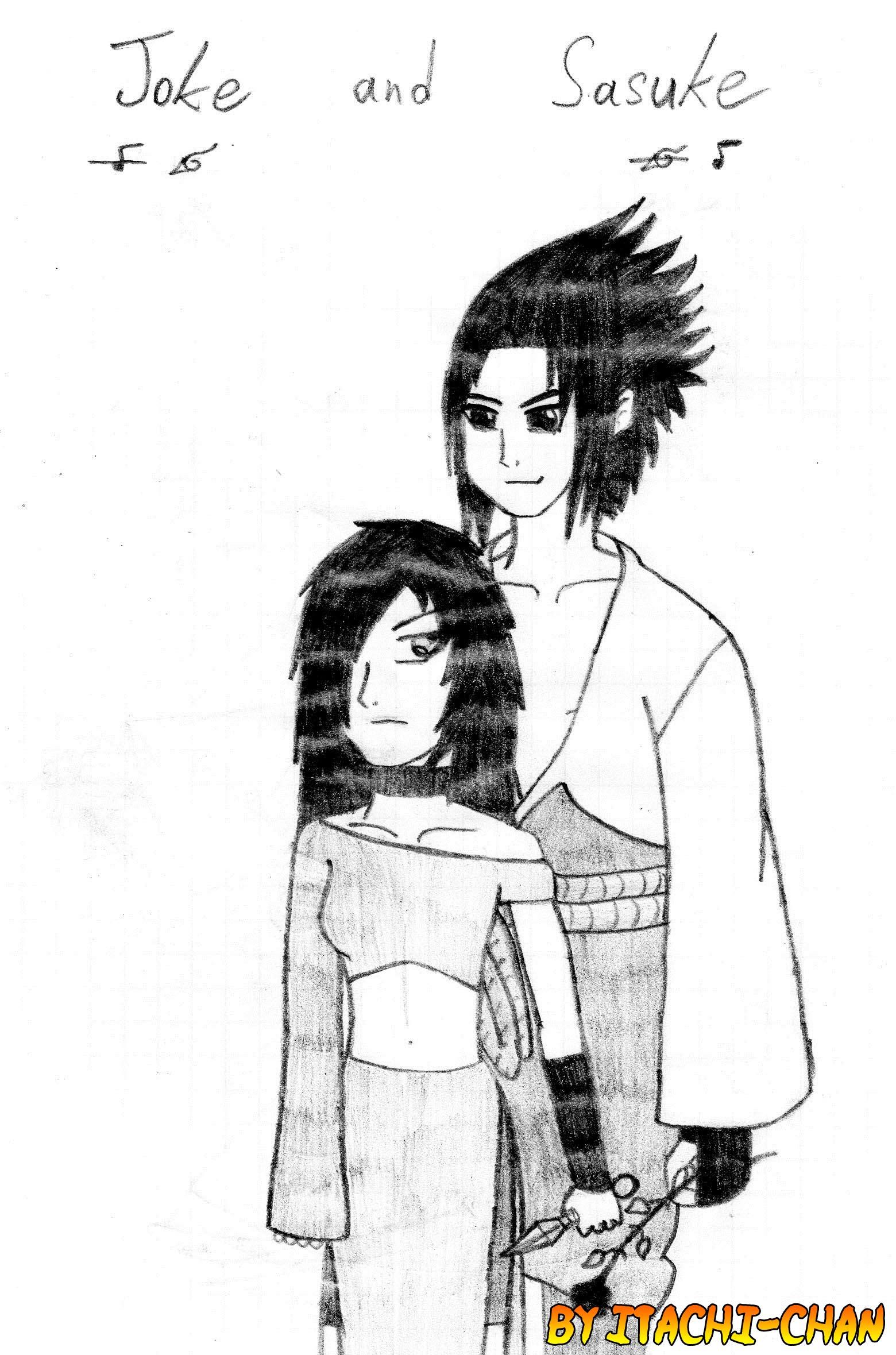 Gokumi Joke and Uchiha Sasuke by Gokumi
