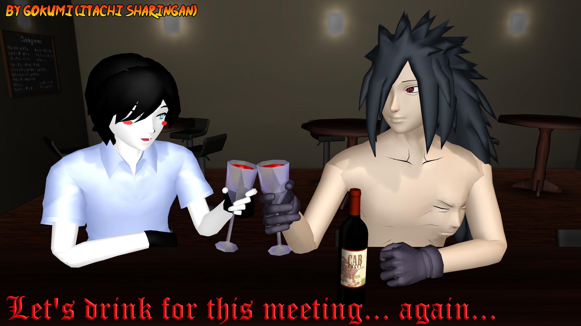 Let's drink for this meeting... again... by Gokumi