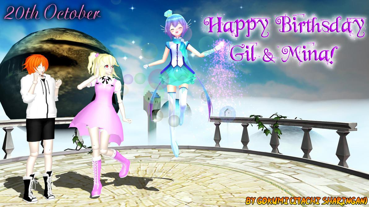 Happy Birthsday Gil and Mina! by Gokumi