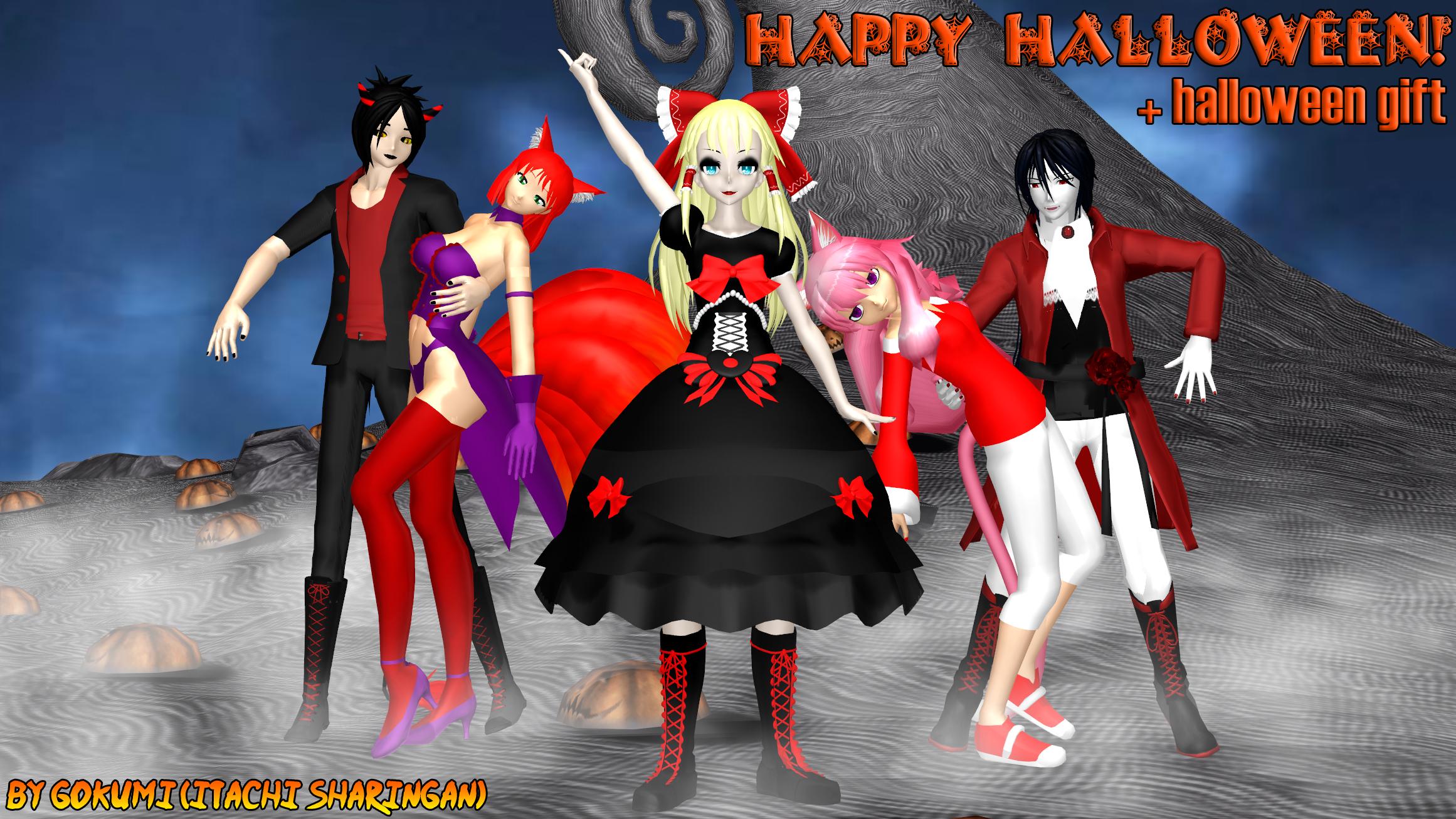 Happy Halloween! + download halloween gift by Gokumi