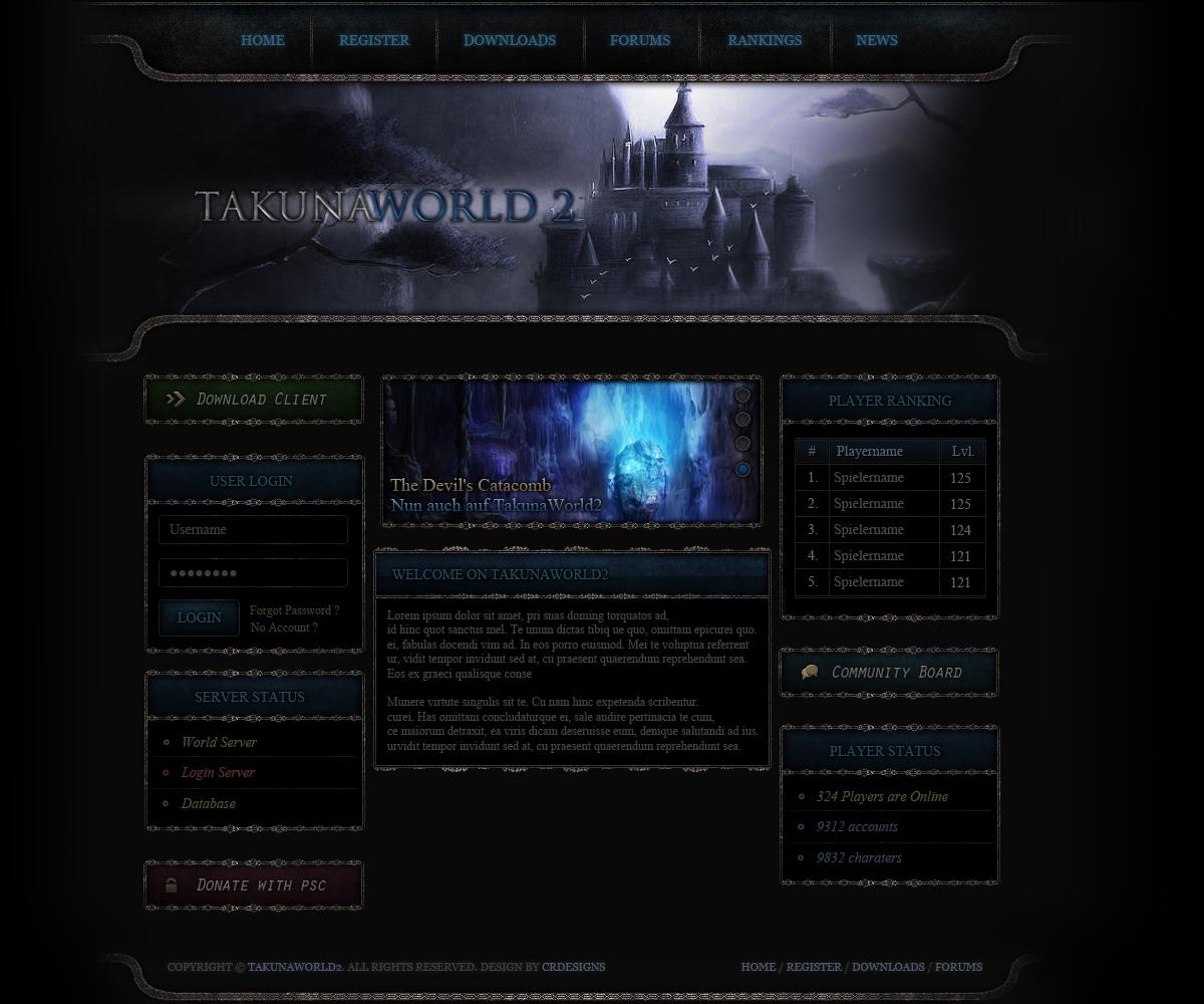 Metin2 TakunaWorld2 Webdesign