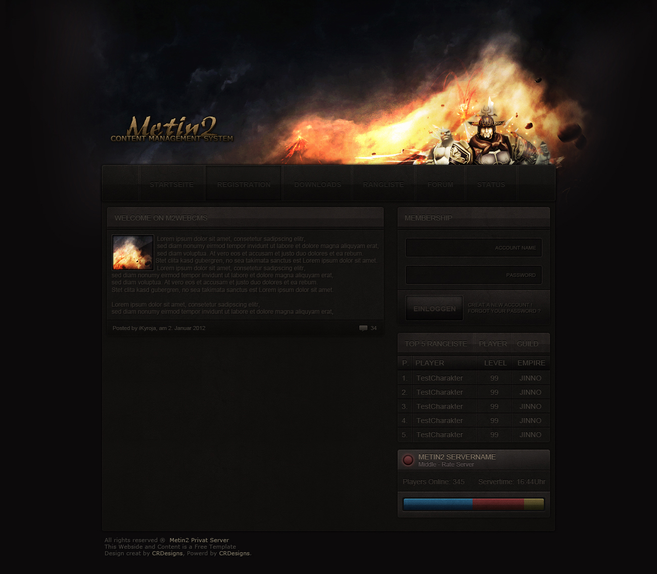 Metin2 Content Management System