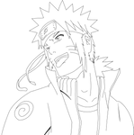 Naruto as a Hokage -  Lineart