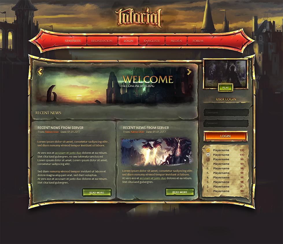 Webdesign of my Tutorial Series