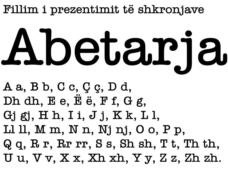 Abetarja by albanians