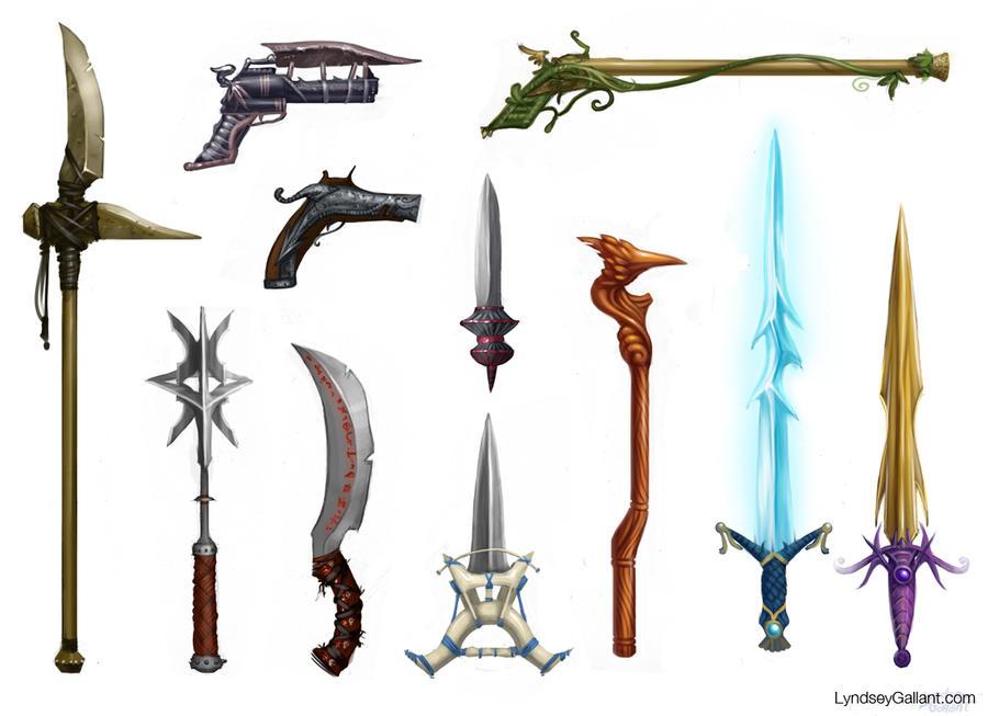 Fantasy Weapon Designs by Lynryn on DeviantArt
