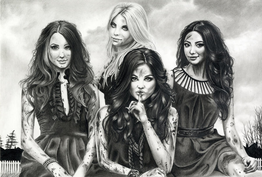 Pretty little liars by lillikeks on deviantart for Pretty little liars coloring pages