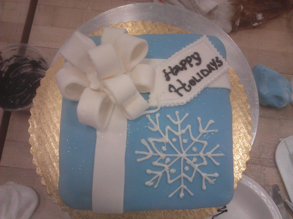 Specialty Cake: Gift Box Cake by OriginalOreo
