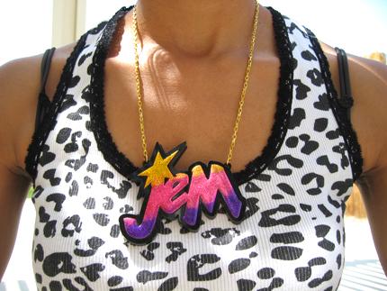 Jem necklace by pinkminx