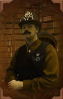 Steampunk Gentleman Portrait by Trevman63