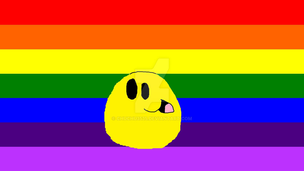 :]-[appy Face Rainbow Pride Flag by chuchu3535