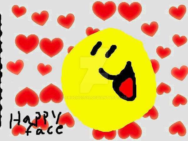 :]-[appy Face Heart Background  by chuchu3535