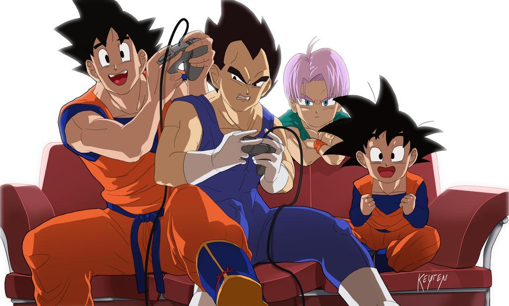 Goku Vs Vegeta Video Rumble By WolfKeyren