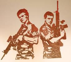 pals with guns by Myrloenn