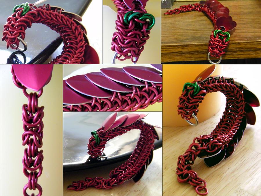 Dragon Keychain Details by ChainedBeauty