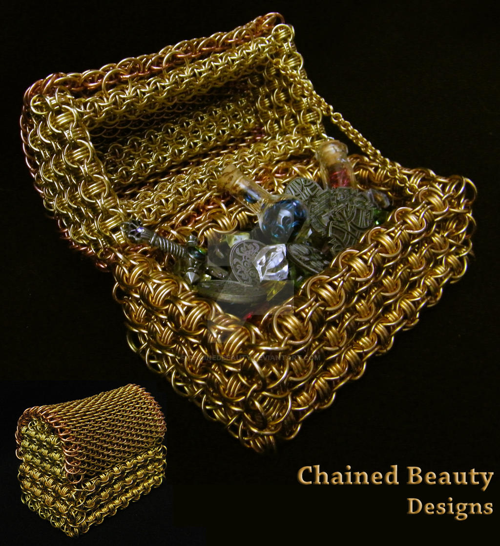 Chainmaille Treasure Chest by ChainedBeauty