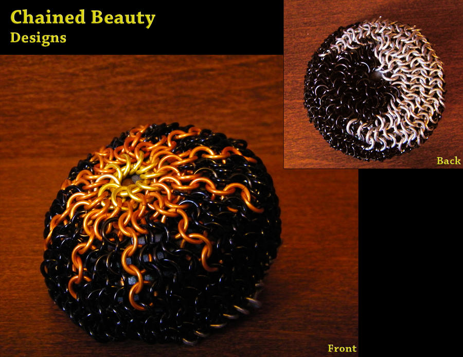 Chainmaille Hacky Sack - Sun and Moon by ChainedBeauty