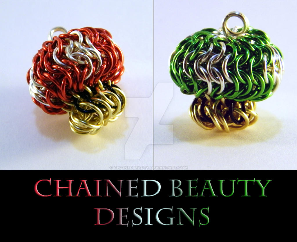 Chainmaille Mario Mushroom and 1-Up Mushroom by ChainedBeauty