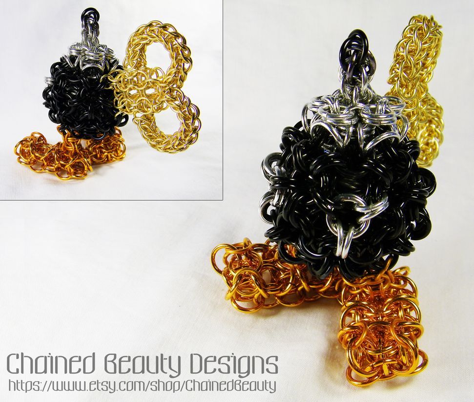 Chainmaille Bob-omb by ChainedBeauty