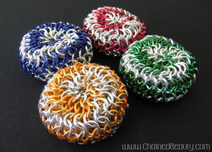 Chainmaille Spiral Footbags