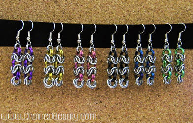 Byzantine Rose Earrings