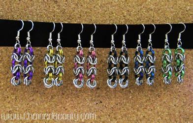 Byzantine Rose Earrings by ChainedBeauty
