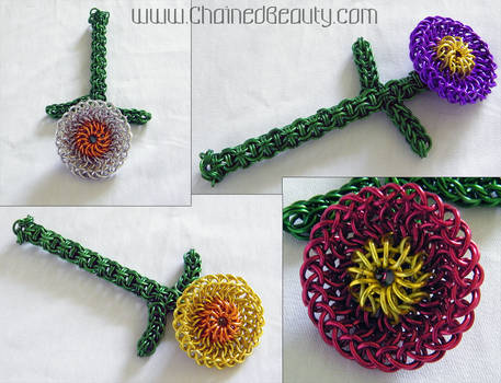 Chainmaille Flowers