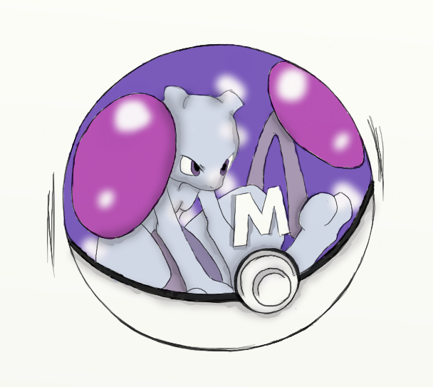 MewTwo Colored by Gamer-KopfSchuss